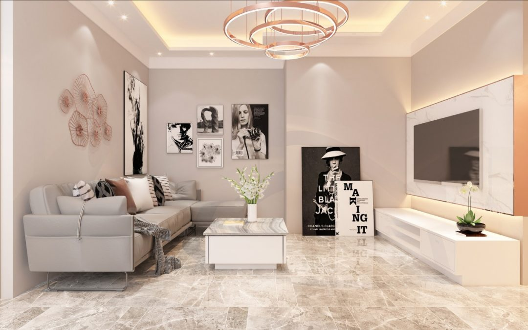 Create your living room with a perfect  plan
